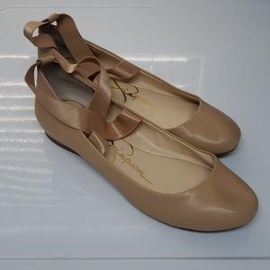 Jessica Simpson Nude Ballet Flats Size 11